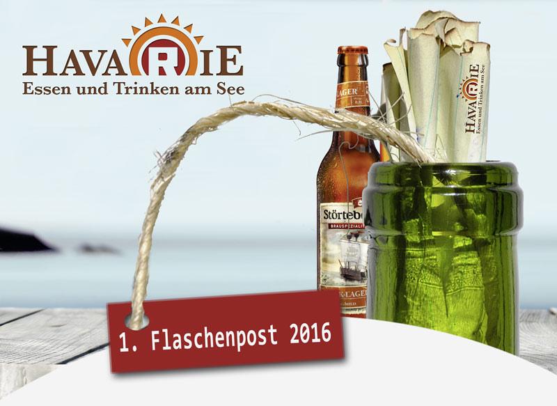 Havarie 1. Flaschenpost Saisonstart 2016, Blogbeitrag